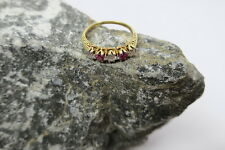 Vintage Ring / Damenring 3x Brillant 0,25ct 2x Rubin 0,15ct 585/ 14kt Gold