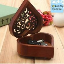 HEART WOOD SILVER WIND UP MUSIC BOX : YOU ARE MY SUNSHINE ( PROMOTION OFFER)
