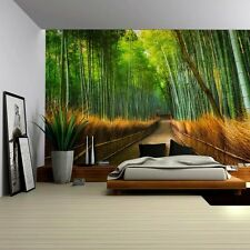 Wall26® - Mural of a Pathway in a Bamboo Forest - Wall Mural- 100x144 inches
