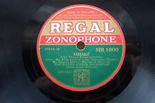 THE SILVER SCREEN ORCHESTRA 78 ADORABLE / WALTZ TIME REGAL ZONOPHONE MR1000