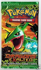 SEALED Pokemon Dragon's Exalted English Rayquaza Artwork  Booster Pack