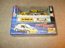 Diecast Maisto Excess Tuners Metal Model Kit Ford Focus Yellow & Black 1:24 MISB