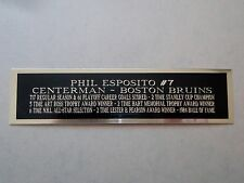 Phil Esposito Bruins Nameplate For A Signed Hockey Jersey Case Or Photo 1.5 X 8