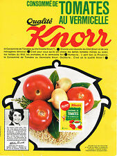 PUBLICITE ADVERTISING  1963   KNORR  potage tomates au vermicelle