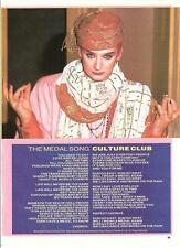 """BOY GEORGE (Culture Club) Medal Song words  magazine PHOTO / mini Poster 11x8"""""""
