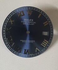 Rolex Men's Datejust Ii Cobalt Blue Custom Romans Numbers Dial S-S