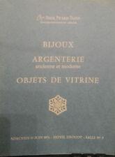1973 CATALOGUE DE VENTE ILLUSTRE DROUOT ARGENTERIE BIJOUX OBJETS DE VITRINE