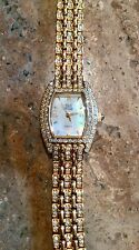 "NOLAN MILLER GLAMOUR COLLECTION ""IRRESISTIBLE PAVE PANTHER"" BRACELET WATCH"""