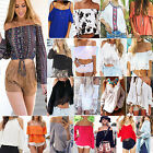 Best Fashion Women Sexy Off Shoulder Casual Long Sleeve Slim T-Shirt Top Blouse