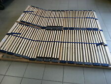 2x 7 Zonen Lattenrost 2x 90x200  = 180x200, Kopfteilverstellbar, Optimalux K