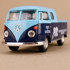 1963 Blue Volkswagen Twincab Delivery Pickup Ute Model Car Die-Cast 1:34 Scale