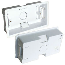 35mm DOUBLE/TWIN PLASTIC DRY LINING BACK BOX - 2 GANG WALL PATTRESS UK