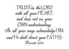 Trust in the Lord with all your heart Vinyl Wall Decal Stickers Decor Letters