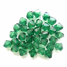 500 acrilico Bicone Beads 6mm VERDE Gioielli Making