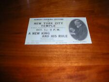 C. T. Russell Early Bible Student Invitation Card Watchtower Jehovah IBSA