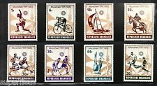 RWANDA 1972 postage stamps (8) Munich Olympic games set MNH F/VF Football etc..