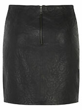 Muubaa Fiangi Black Leather Skirt. RRP £250. M0525. UK 8. BNWT.