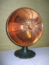 ANTIQUE  ART  DECO  WINDSOR  GLOW  COPPER  RADIANT  HEATER - WORKS - MUST  SEE !