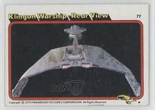 1979 Topps Star Trek: The Motion Picture #77 Klingon Warship Rear View Card 0a1