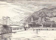 TOURNON-SUR-RHONE pont en fil de fer