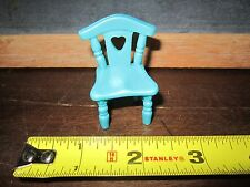 Fisher Price Sweet Streets furniture house home cottage hotel  chair seat blue