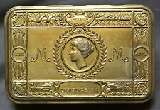 WWI QUEEN MARY CHRISTMAS BRASS TIN 1914 Imperium Britannicum-Beautiful Condition