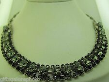 Sorrelli Midnight Moon Necklace NCN5ASMMO antique silver tone