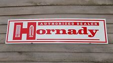 CURRENT STYLE HORNADY AMMUNITION HI-END DEALER SIGN/AD 1X4' ALUM.W/BULLETS LOGO