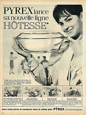 PUBLICITE ADVERTISING 044   1963   PYREX  plats ligne HOTESSE
