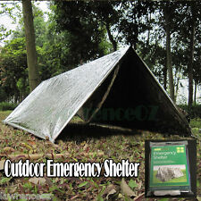 Emergency Survival Camping Shelter Tarp Tent Bush Walking Hiking Tramping Safety