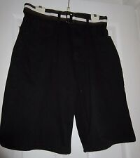 "MEN'S P J MARK BELTED BLACK SHORTS SIZE 34"" WAIST GREAT CONDITION*"