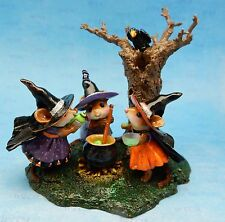 COOKING UP TROUBLE! by Wee Forest Folk, WFF# M-185d, Halloween LTD 2016