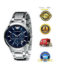 Imported Emporio Armani AR2448 Blue Dial Chronograph Men's Wrist Watch.