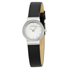 Skagen Ultra Slim Swarovski Crystal Ladies Watch 358XSSLBC