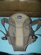 Chicco Ultra Soft Front Baby Carrier Tan/Gray Neutral 7.5-25 lbs. EUC!