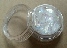 ICE MYLAR 2g Cracked Glitter Nail Art For Acrylic or Gel - White