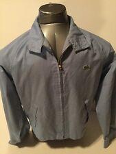 Izod Lacoste Vintage 80s Jacket Baby Blue Size M Medium