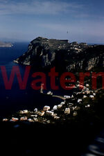 Sorrento Areal View Italy Coast Line 1954 Red Border Kodak 35mm Slide