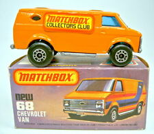 "MATCHBOX sf Nº 68c Chevy van orange ""MATCHBOX Collectors Club"" modèle spécial"