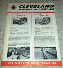 Brochure Macchine agricole - Cleveland Trenchers and Backfillers 1960 ca