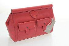 Radley Hemlock Clutch In Beautiful Coral Red Leather BNWT Great Size