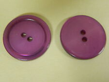 NEW 25 1 inch LT. PURPLE PEARL BUTTON 2 HOLE W/RIM