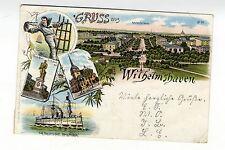 Gruss aus Wilhelmshaven 1897  Adalbertstr. Panzerschiff Kaiserliche Marine S.M.S