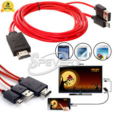 2M MHL Micro USB a HDMI Cavo TV OUT lead 1080p per Samsung Galaxy S5 S4 S3 Nota