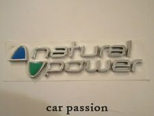 SCRITTA STEMMA NATURAL POWER FIAT PANDA ORIGINALE POSTERIORE logo emblem SIGN