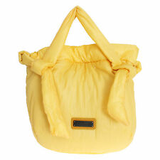 NWT $280 ERMANNO SCERVINO Yellow Nylon Shopper Shoulder Bag Hobo Handbag Tote