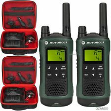 2 x Motorola Talker TLKR T81 Hunter 10km Walkie Talkie + Case