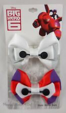 New Disney Big Hero 6 Baymax 2 Pack Cosplay Hair Bow Pin Clip Costume Dress-Up