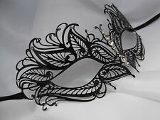 Venetian Style Laser Cut  Metal Filigree Masquerade Party Mask Diamante F3