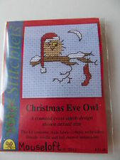 MOUSELOFT STITCHLETS CROSS STITCH KIT ~ CHRISTMAS EVE OWL ~ NEW